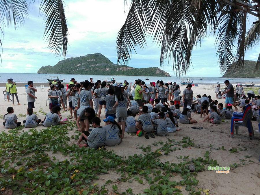 ชายหาดหน้าที่พักปราณบุรี