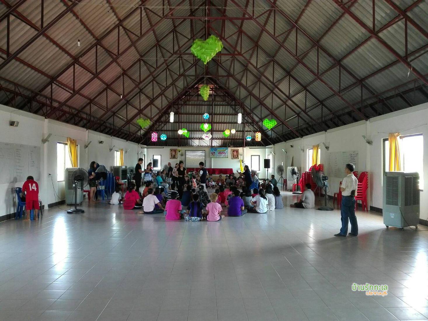 ห้องประชุมพัดลม ที่พักติดทะเล ปราณบุรี