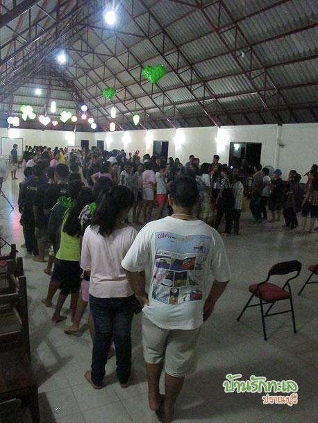 หมู่คณะนักเรียน 165 คนจัดกิจกรรมที่ห้องประชุม ที่พักปราณบุรี
