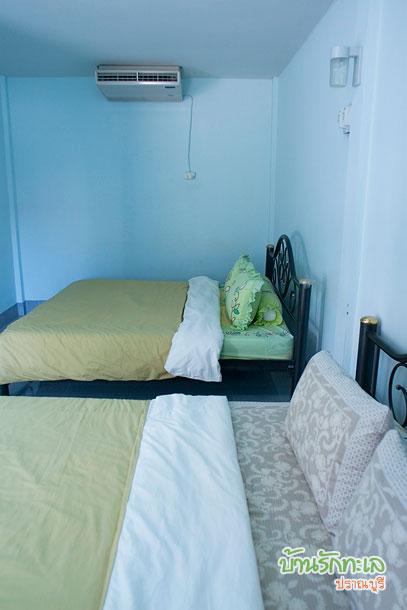 สายธาร ห้อง 4 ท่าน ห้องกว้าง ที่พักปราณบุรี บ้านรักทะเล