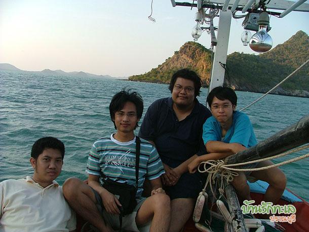 เรือนำเที่ยวเกาะ ภาพบนเรือ ที่พักปราณบุรี บ้านรักทะเล