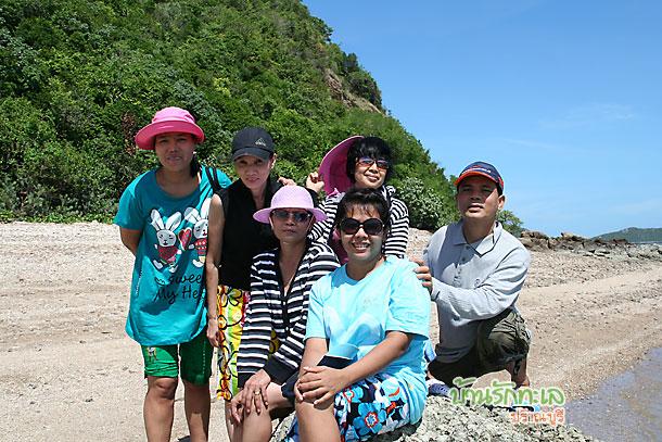 กลุ่มสหกรณ์ยูเนี่ยน โรงพยาบาลเซนต์หลุยส์ ภาพบนเกาะนมสาว ที่พักหมู่คณะ